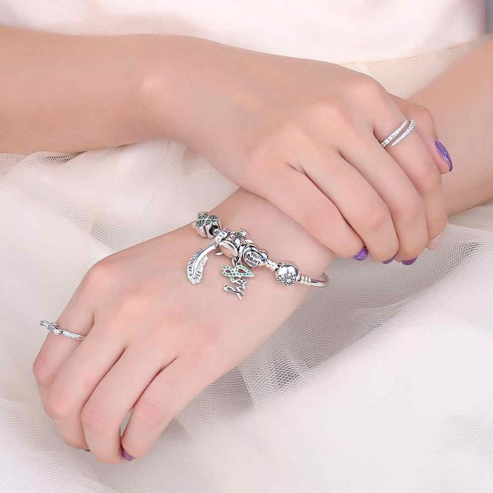 JewelryPalace Lucky Clover 925 เงินลูกปัดเงิน 925 สำหรับสร้อยข้อมือเงิน 925 เครื่องประดับทำ