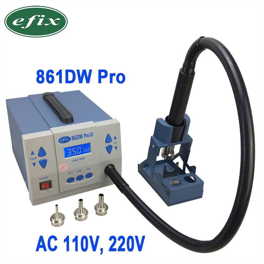 Efix 861DW Pro Station de reprise d'air chaud AC 110V 220V 1000W pistolet à chaleur à souder réparation de téléphone BGA puce IC Kit d'outils