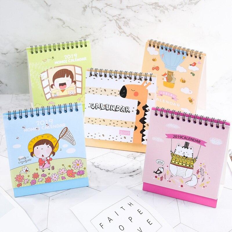 Kalender, Planer Und Karten PräZise 2019 Nette Cartoon Katze Mädchen Mini Desktop Kalender Papier Planer Jährlich Marker Lernen Arbeits Zeitplan Agenda Organizer