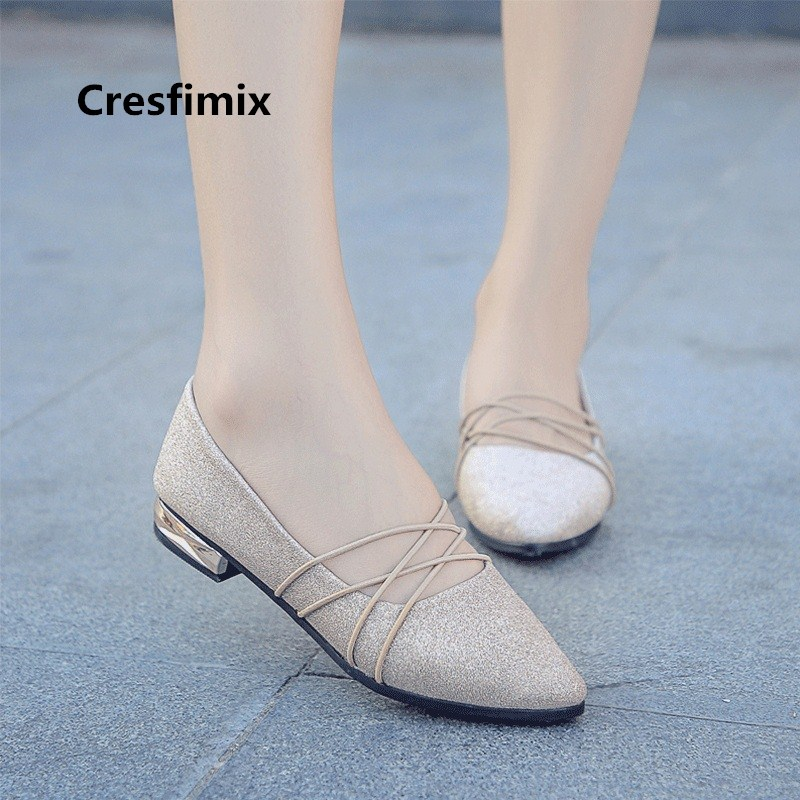 Women Sexy Comfortable Slip on Golden Flat Shoes Zapatos De Mujer Female Cute Sweet Silver Shoes Lady High Quality Shoes E870Women Sexy Comfortable Slip on Golden Flat Shoes Zapatos De Mujer Female Cute Sweet Silver Shoes Lady High Quality Shoes E870