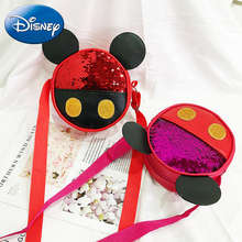 Disney 2019 New Kid Mickey Shoulder Bags Messenger Handbag Girl School Lovely Bow Crossbody Bag Backpack Child Waist Bag School