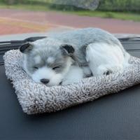 Cute Puppy Car Flavor Bag Creative Car Air Freshener Simulation Dog Cat Solid Charcoal Bag For
