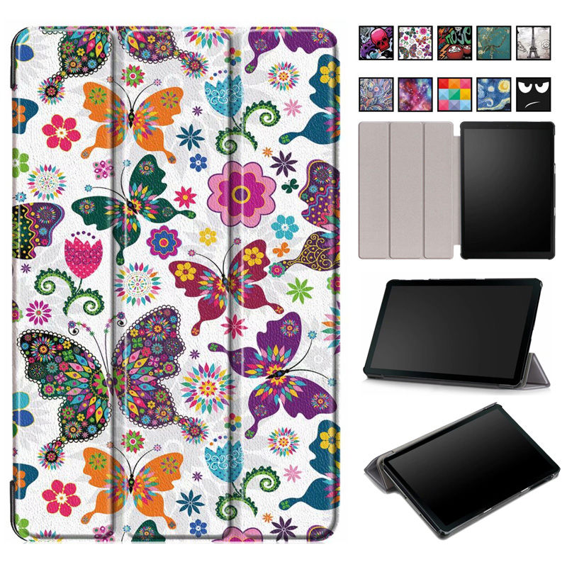 Folio Cover Case For Samsung Galaxy Tab A 2019 SM-T510 SM-T515 T510 T515 Smart Case For Tab A 10.1'' 2019 Tablet Case Funda