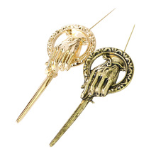 Game of Thrones Hand of the King Pin 7.1cm Song of Ice and Fire Brooch Lapel Inspired Authentic Prop Badge Party Cosplay Jewelry цена
