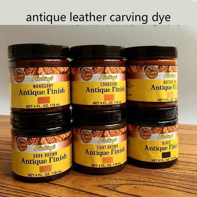 American Import Fiebing's 118ml Leather Oily Creamy Dye Antique Leather Carving Dye Vintage