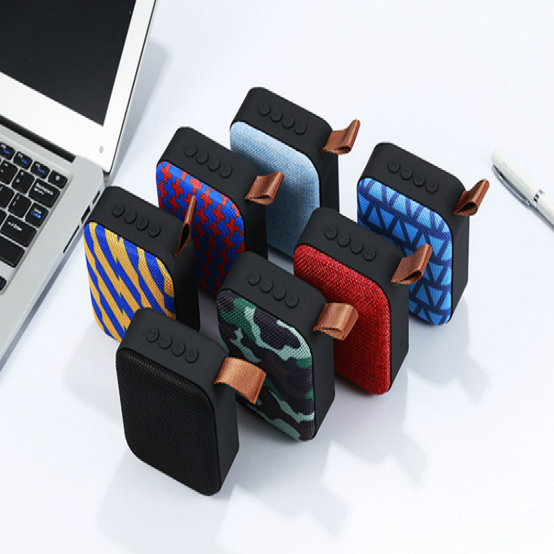Wireless Bluetooth Speaker Card Subwoofer Computer Outdoor Portable Mini Fabric Small Sound