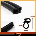 "300cm 118"" Car Truck Door Moulding B Pillar Black Edge Trim Rubber Edge Sealing Lock Strip Weatherstrip"