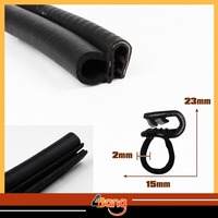 300cm 118 Car Truck Door Moulding B Pillar Black Edge Trim Rubber Edge Sealing Lock Strip Weatherstrip