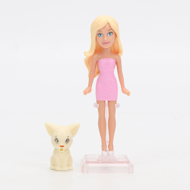Cute Plastic Barbie Doll with Pet