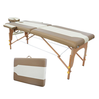 2015 New Design High Quality Cheap Two Section Wooden Massage Table Bed Beauty Tattoo Bed Massage