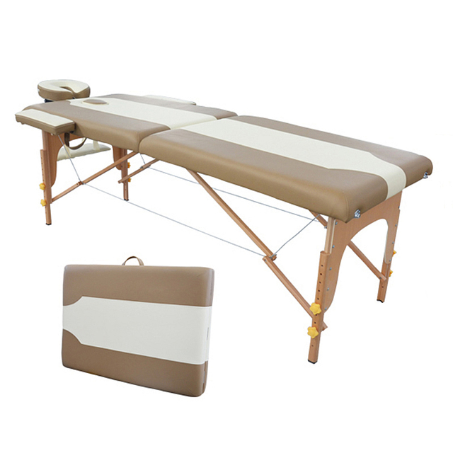2015 New Design High Quality Cheap Two Section Wooden Massage Table Bed Beauty Tattoo Bed Massage Tables Free Shipping