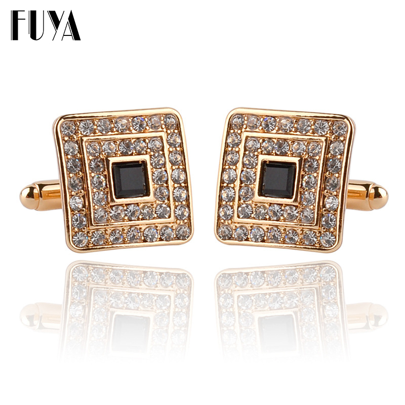 New trendy square geometric cufflinks buttons gifts