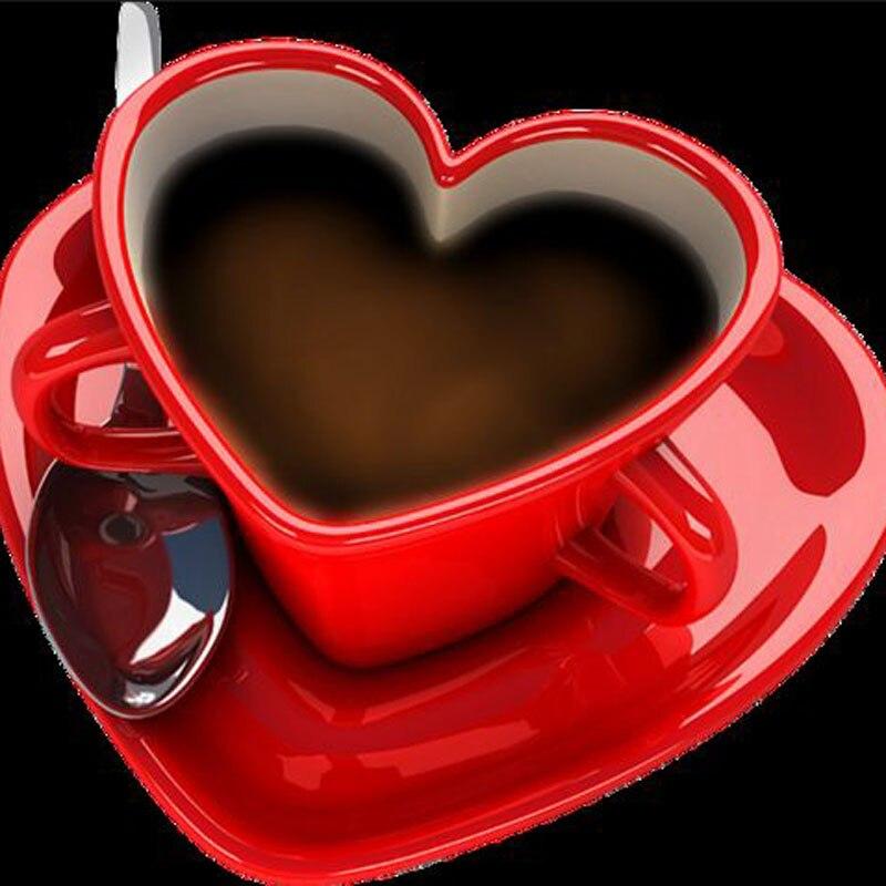 497c4fc64e201 20x20 سنتيمتر الأحمر الحب فنجان القهوة فسيفساء الصور ديي الماس اللوحة  التطريز الماس عبر غرزة الراتنج اللوحة زخرفة المنزل