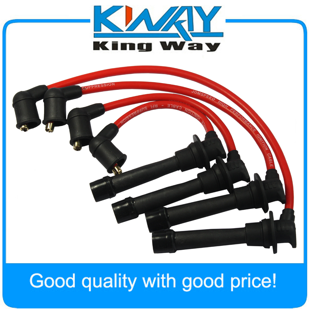 Wires-Set Spark-Plug Miata Mazda Ignition Red MX-5 Set-Of-4pcs Fits-For
