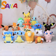 20cm hot Pokemon Plush Toys for Pikachu/Charmander/Gengar/Bulbasaur/Squirtle/Dragonite/Snorlax Stuffed toys