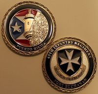 Sample! Fort Buchanan Puerto Rico 65th Infantry Regiment Army Challenge Coin, Round coins souvenirs, gifts, DHL FREE SHIPPING