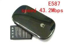 Huawei МИФИ E587 3g 4 г lte WI-FI беспроводная точка доступа маршрутизатора разблокирована 43,2 Мбит мобильный WI-FI обмен 3g модем dongle