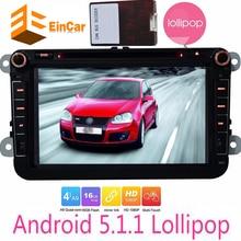 Автомобиль Android 5.1.1 dvd-плеер GPS навигатор для Volkswagen Golf Polo Jetta Passat Skoda конфеты автомобиль android-авторадио GPS навигатор