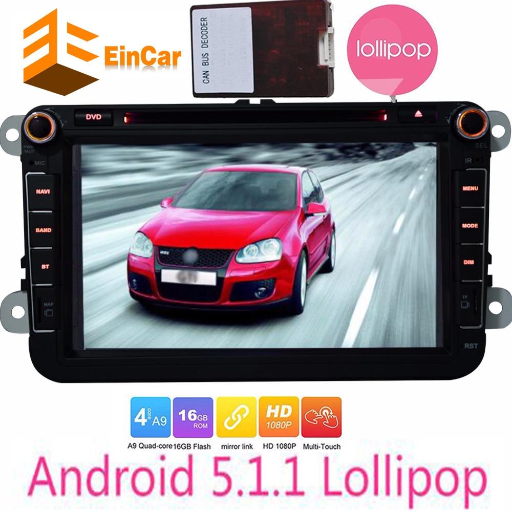 Car Android 5.1.1 DVD Player GPS Navigator for Volkswagen GOLF polo JETTA PASSAT SKODA CANDY Car Android autoradio GPS Navigator