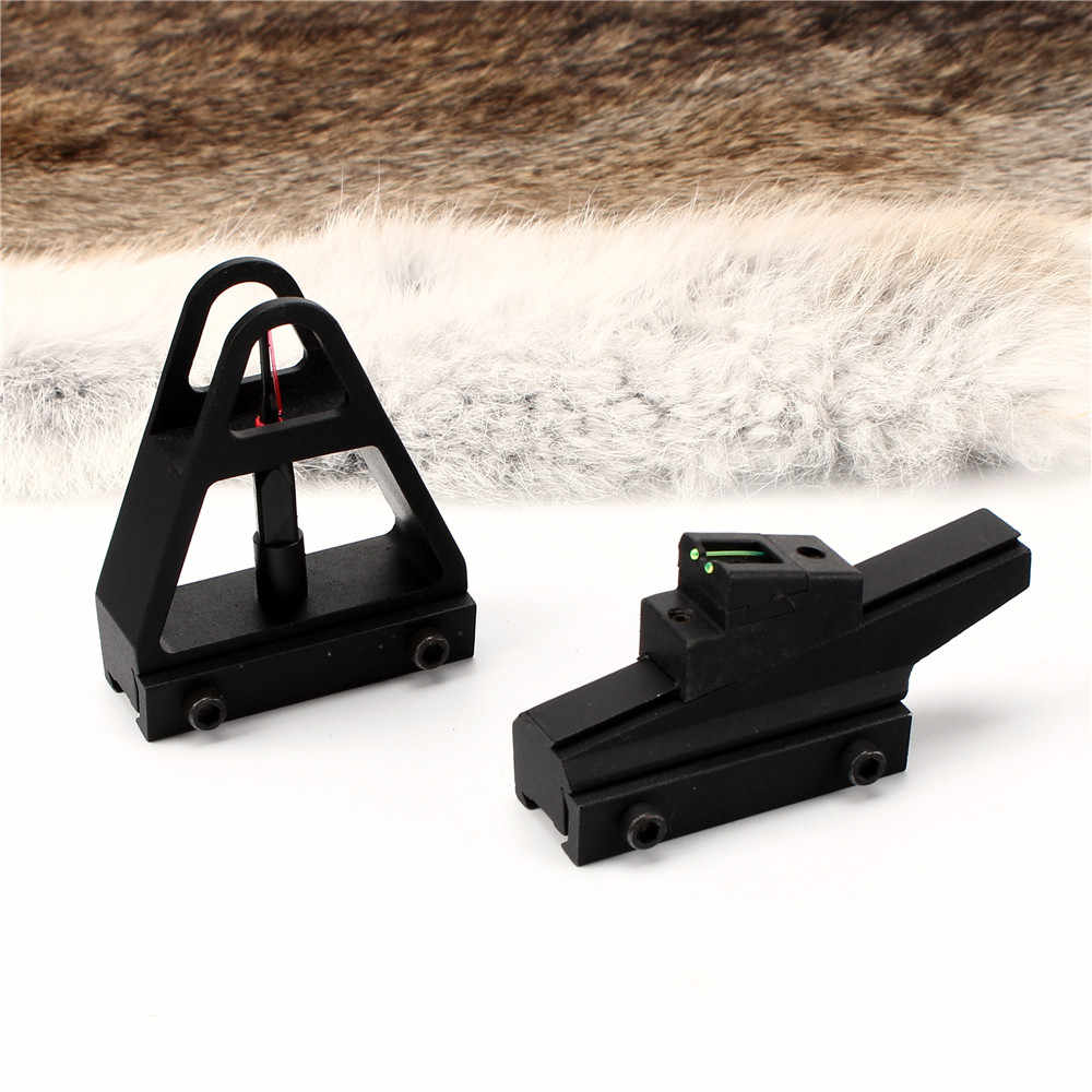 Rifle CZ 452 453 455 511 511 512 513 Adjustable Front Rear Sights for  Dovetail 3/8 Inch 11mm Rail Mount Iron Sight Set
