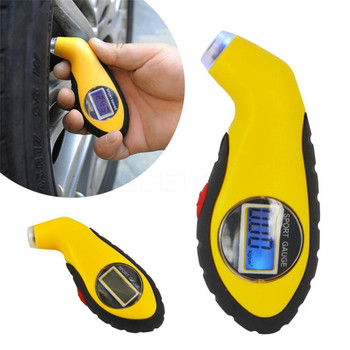 Car Electronics Scanner tire gauge LCD Digital Auto Car Motorcycle Air Pressure Tire Tyre Gauge Tester Tool feb11 image