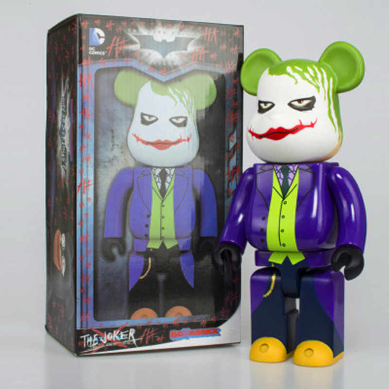 173d6d8e8287 28CM JOKER Suicide Squad Bearbrick Be rbrick Batman Toys DIYGraffiti PVC  Action Figure Gloomy Bear