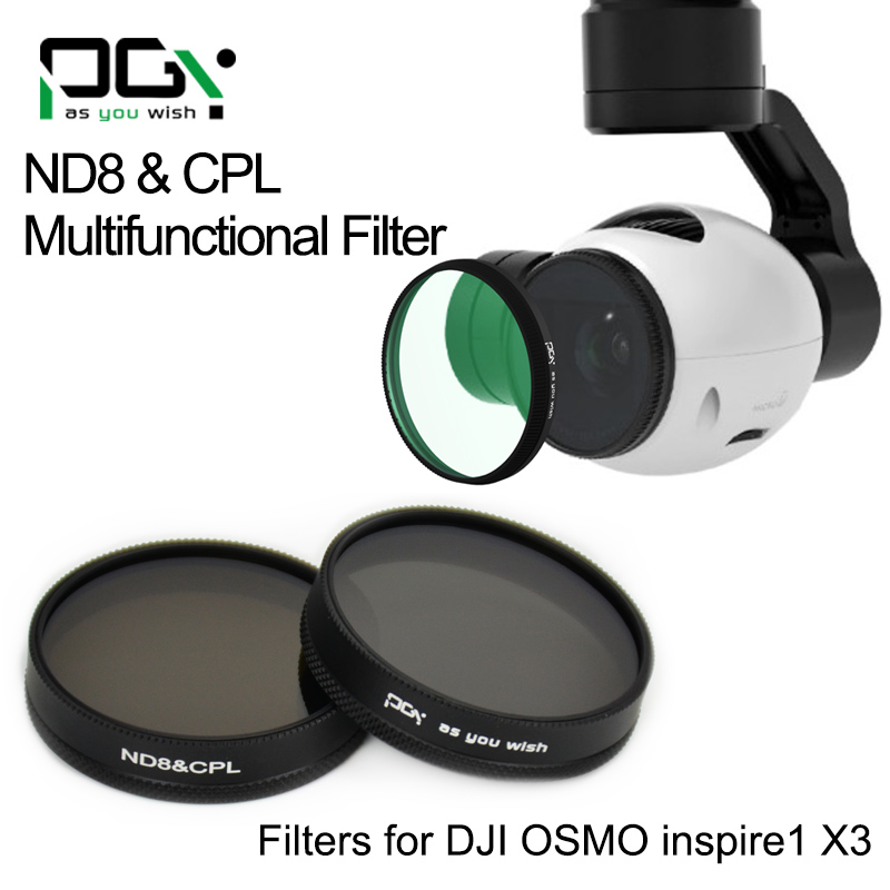 PGY DJI OSMO X3 inspire1 gimbal Camera ND8&CPL 2in1 Multi-function AGC Lens Filter Quadcopter drone parts accessories