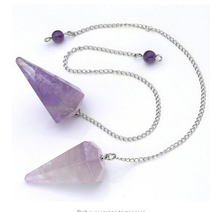 Natural Amethys t Crystal Pink Quartz Stone Pendulum Facet Reiki Chakra Healing Point with 10inch chain 1pcs single pack
