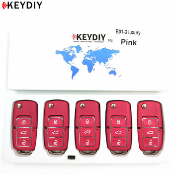 KEYDIY KD B01-3 LUXURY Pink For KD900/KD900+/URG200 Key Programmer B Series Remote Control,5pcs/lot