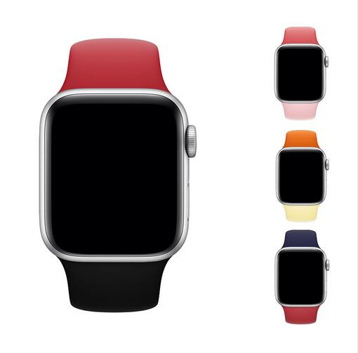 100 pcs ซิลิโคนสำหรับ apple watch Series 4/3/2/1 เปลี่ยนสร้อยข้อมือสายนาฬิกาสายนาฬิกาสำหรับ apple watch 42mm 38 มม.-ใน อุปกรณ์เสริมอัจฉริยะ จาก อุปกรณ์อิเล็กทรอนิกส์ บน AliExpress - 11.11_สิบเอ็ด สิบเอ็ดวันคนโสด 1
