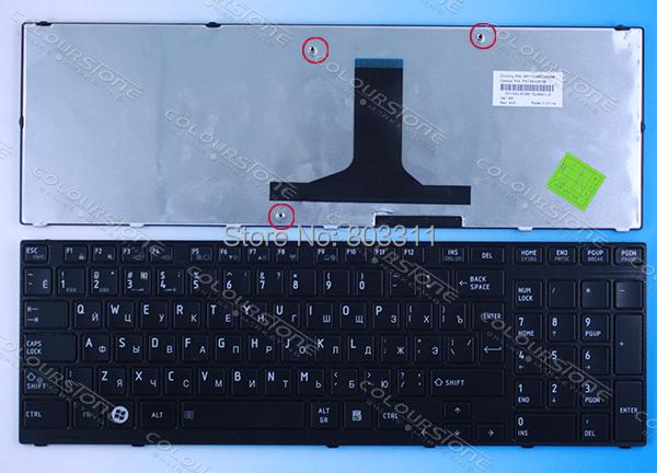 Estrenar rusia teclado portátil teclado portátil para TOSHIBA Satellite P750 P755 P770 P775 RU teclado negro