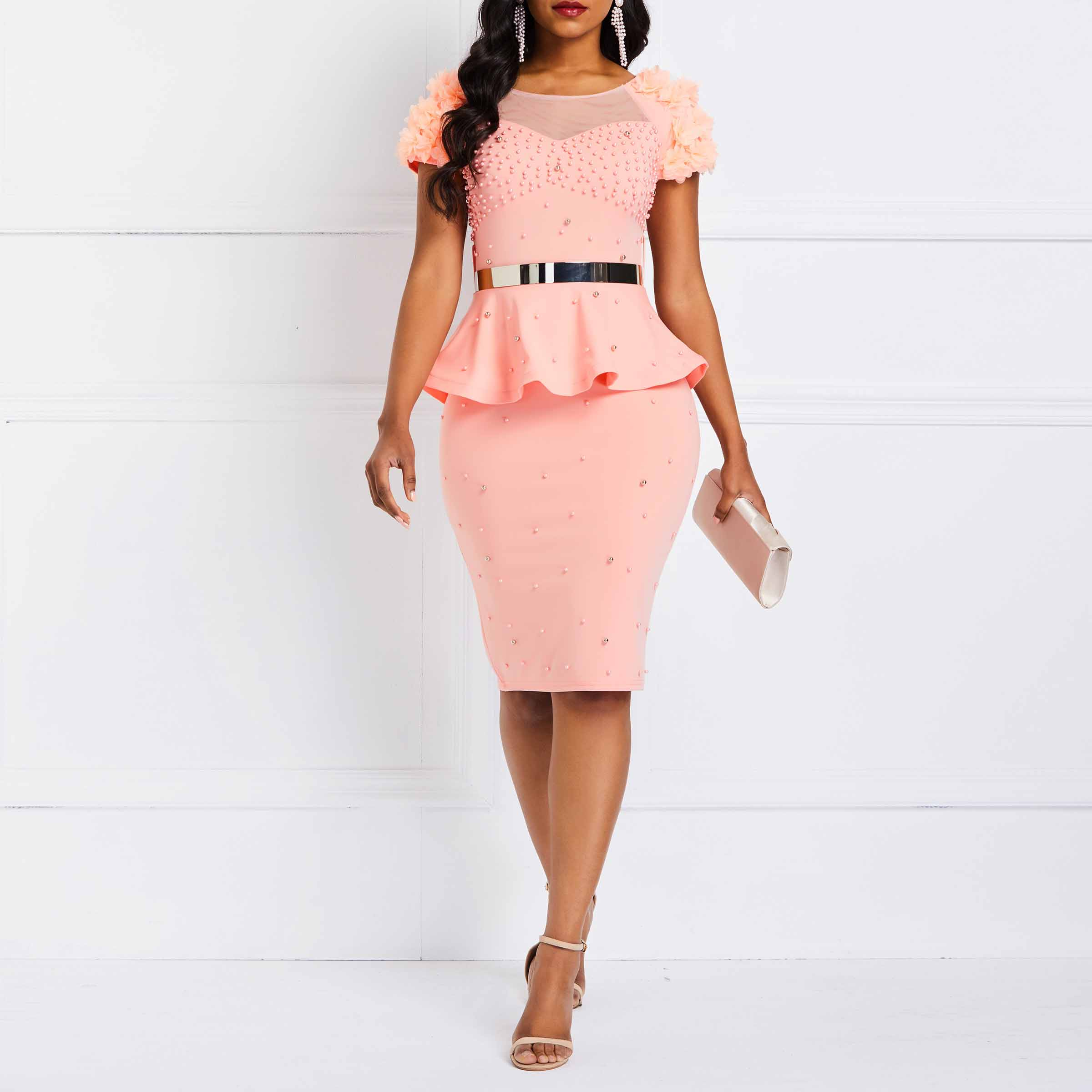 fb3edc1137ede best top pink evening short dress list and get free shipping - f57ijah9