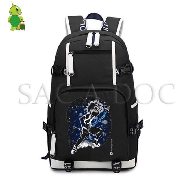 709a0b247d0e Anime Hunter X Hunter Killua Fluorescence Backpack Women Men Large Laptop  Backpack School Bags for Teenagers