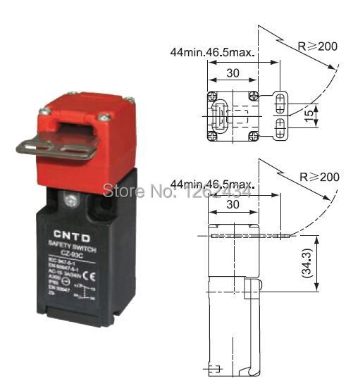 Safety door switch Limit switch Micro switch CZ-93C 1NO 1NC 3A zhejiang days was waterproof and dust stroke micro limit switch cntd cz 3102 chang was brought line 3m