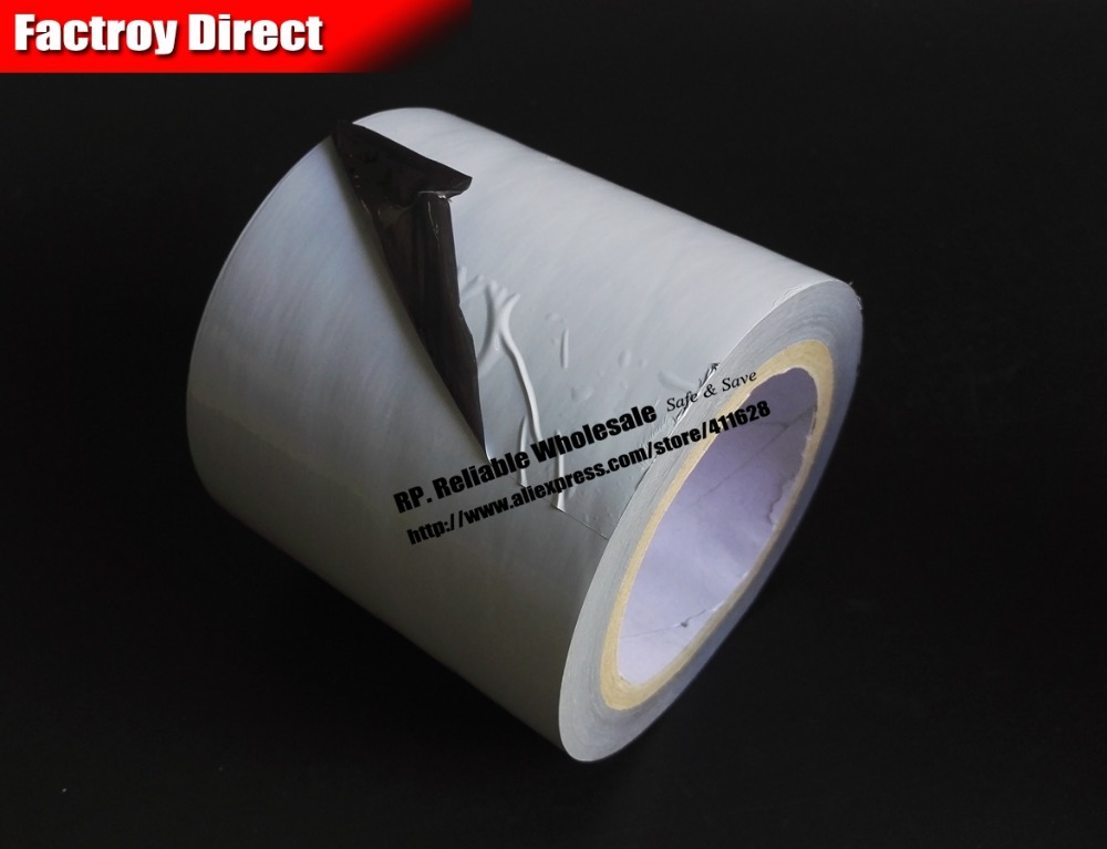 100mm* 80M*0.05mm Grey/Black Protect Film Tape for Metal Stainless, Aluminum Surface, Elevato Car, Truck, Vehicle Repair Protect