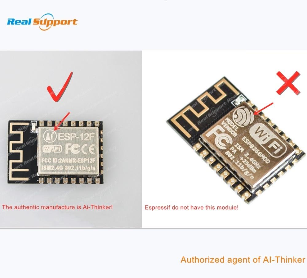 ESP8266-12 ESP-12 ESP-12E ESP-12F ESP-12S ESP8266 WIFI Wireless Module 32Mbit Flash Memory AI-THINKER TAPE & REEL ORIGINAL REAL