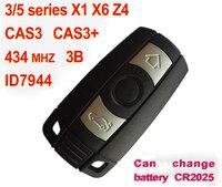 3 Taste Smart Key Für BMW 3 5 serie X1 X6 Z4 Mit ID7944 Chip 434 Mhz Auto Alarm Fob (CAS3 CAS3 +)|Schlüsselgehäuse|Kraftfahrzeuge und Motorräder -