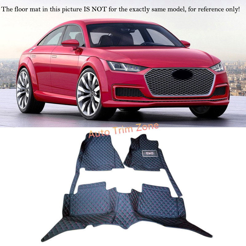 Left&Right Hand Drive Interior Leather Car Foot Mat Carpet Foot Pad For Audi TT 2005 - 2015 brand new car dashboard cover for audi tt dash cover mat right hand driver