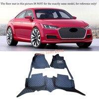 Left&Right Hand Drive Interior Leather Car Foot Mat Carpet Foot Pad For Audi TT 2005 2015