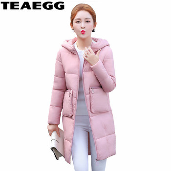 TEAEGG Famale Winter Jacket Women2020 Casaco Inverno Feminino Warm Cotton Pink Womens Winter Jackets Coats Chaquetas Mujer AL310