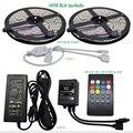 10 M 60led/m RGB Impermeável 5050 SMD LED Tira Controlador Música 12V6A Adaptador De Energia Flexível Levou Luz Fita Lâmpadas de Decoração para casa