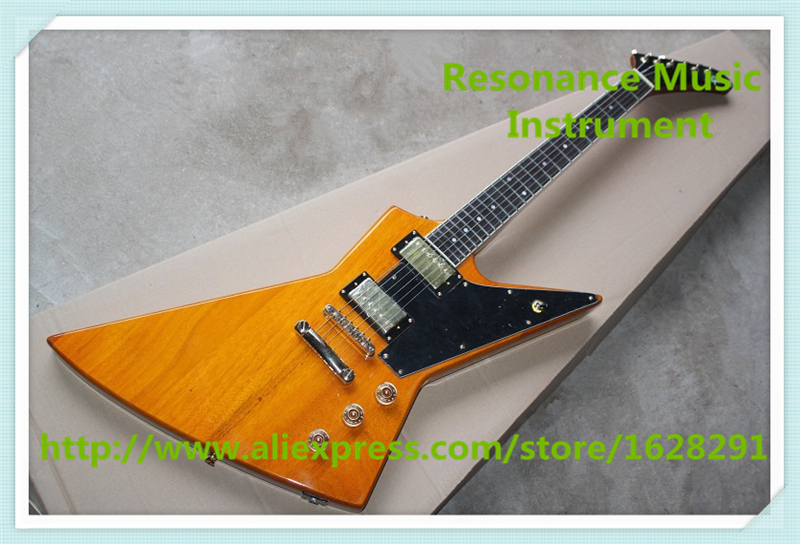 New Arrival China OEM Gold Hardware Explorer Electric Guitars Left Handed Custom Available high quality vintage green lp custom model electric china guitar with gold hardware left handed available