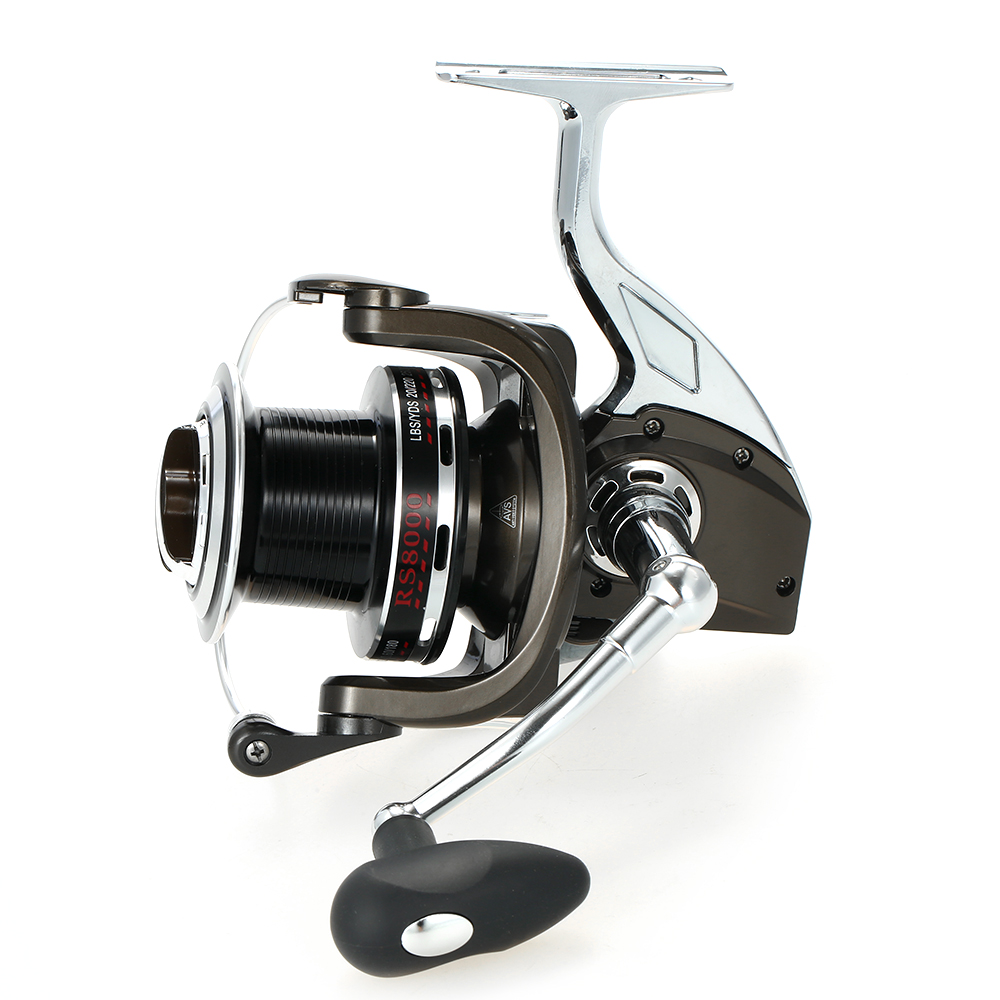 12+1 Ball Bearing 4.9:1 Models 8000 Super Smooth Spinning Fishing Reel Full Metal Body and Metal Spool Right/Left Fishing Reel