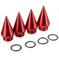 4Pcs/Set Four Red 30mm Extended Tuner Spikes For Lug Nuts Wheels Rims Aluminum 7075
