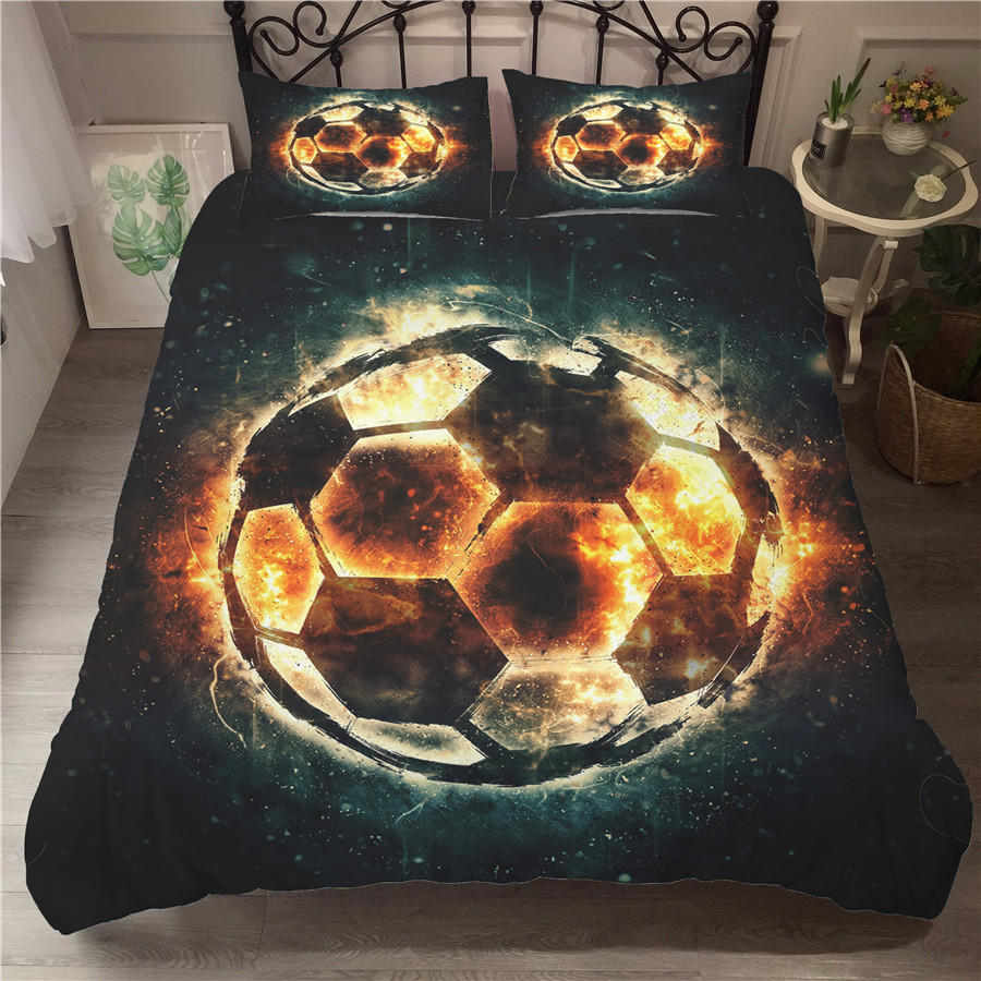 A Bedding Set 3D Printed Duvet Cover Bed Set Football Home Textiles for Adults Bedclothes with Pillowcase #ZQ15