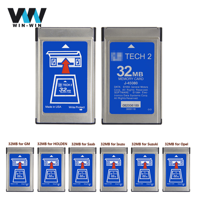 For G-M Tech2 32MB Memory Card With 6 Kinds Of Software & Empty Card for Tech 2 Diagnostic Tool With Free Shipping