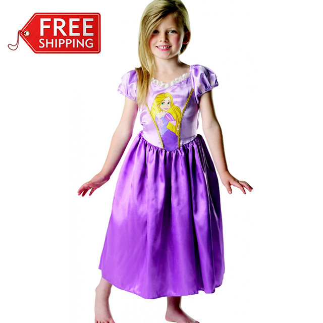 Tangled Rapunzel costume for girls Halloween costumes for kids purple Princess dress children cosplay party fantasia  sc 1 st  AliExpress.com & Tangled Rapunzel costume for girls Halloween costumes for kids ...