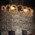 Скандинавский Ретро индустриальный стиль индивидуальная водопроводная труба пеньковая веревка люстра кафе бар магазин одежды droplight