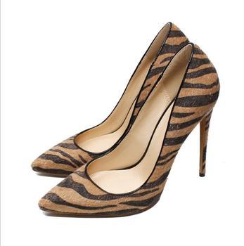 Zebra Leopard Woman Pumps Fashion Thin High Heels 12cm Luxury Women Party Wedding Shoes Sexy Pointed Toe Thin Heel Plus Size 43