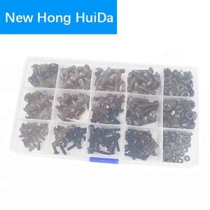 Image 2 - Hex Button Socket Head Cap Screw Metric Thread Hexagon Machine Bolt Nut Alloy Steel Assortment Kit Set Black 10.9 Class M3 M4 M5